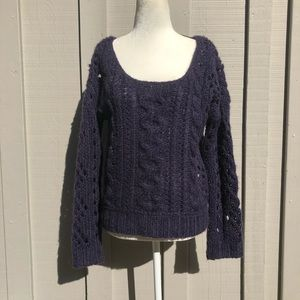 Free People Chunky Knit Purple Sweater
